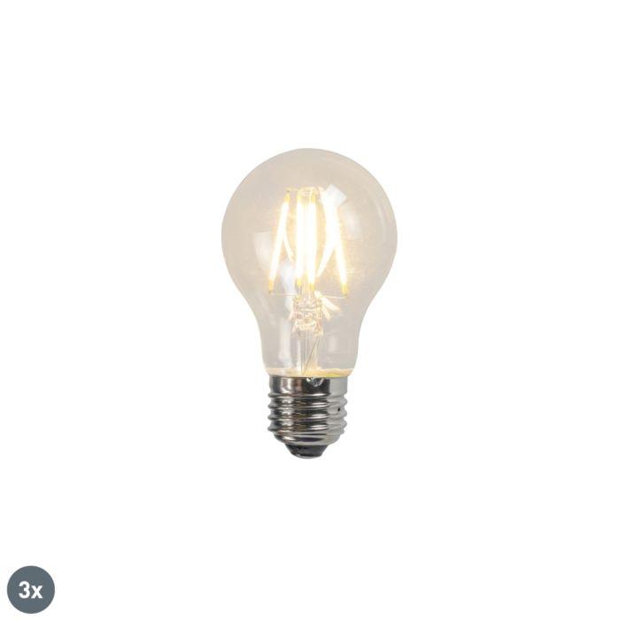 Lampe-à-filament-LED-A60-4W-2700K-clair-lot-de-3