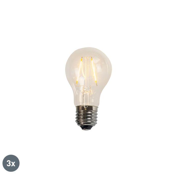 Lot-de-3-lampes-LED-à-filament-A60-2W-2200K-incolore