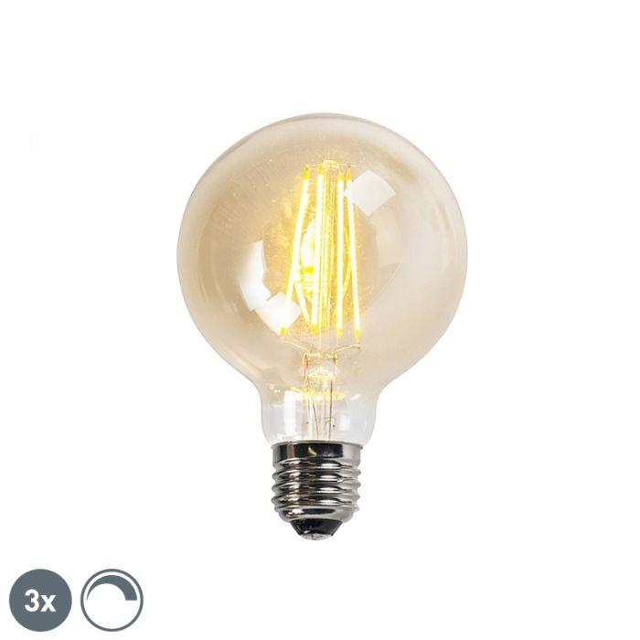 Ensemble-de-3-lampes-à-filament-LED-dimmables-E27-goldline-G95-5W-450LM-2200K