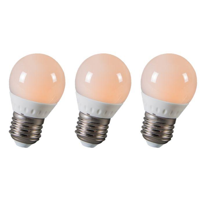 Ampoule-LED-balle-E27-3W-250-lumen-ca.-25W-Pack-de-3