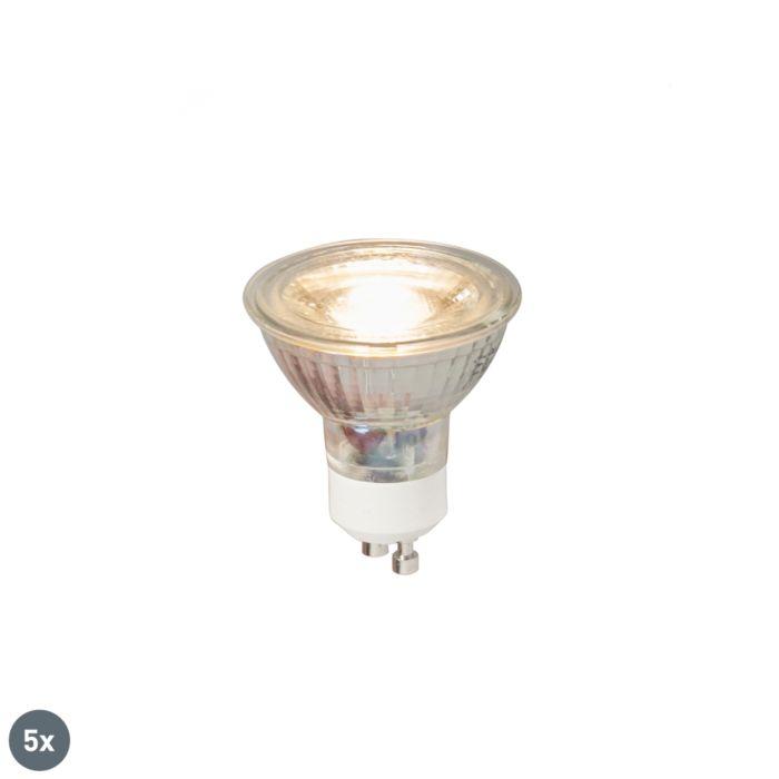Lot-de-5-lampes-LED-GU10-COB-5W-380LM-3000K