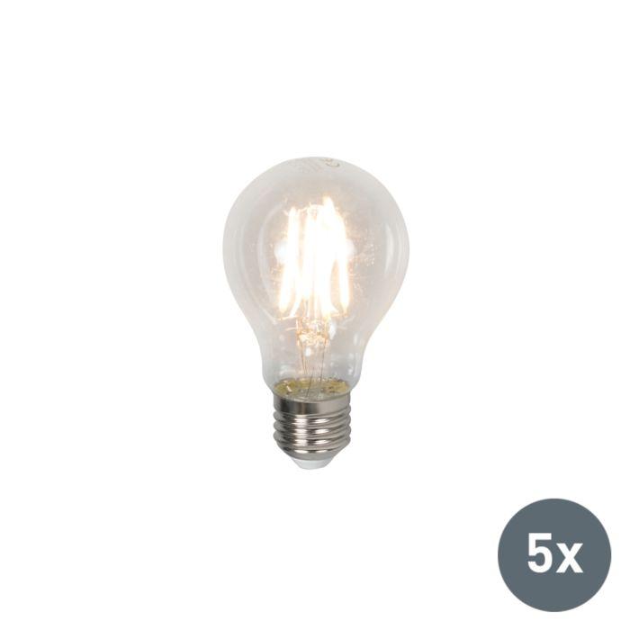 Set-de-5-ampoules-LED-E27-4W-400-lumen-blanc-chaud