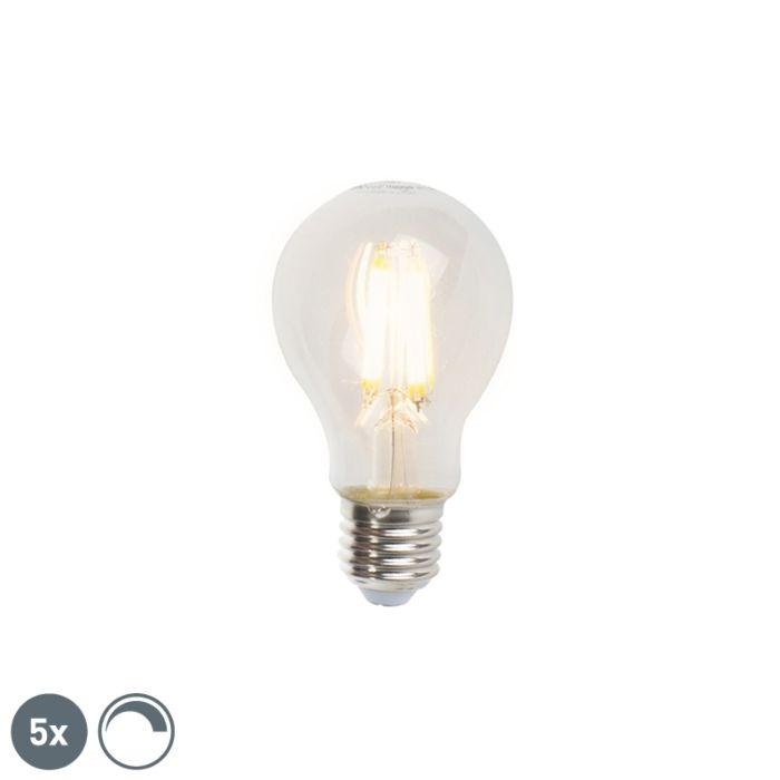 Lot-de-5-lampes-à-filament-LED-réglables-E27-A60-7W-806lm-2700K