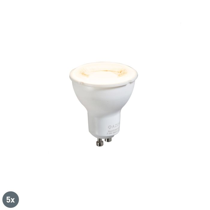 Lot-de-5-lampes-GU10-7,5W-3000K