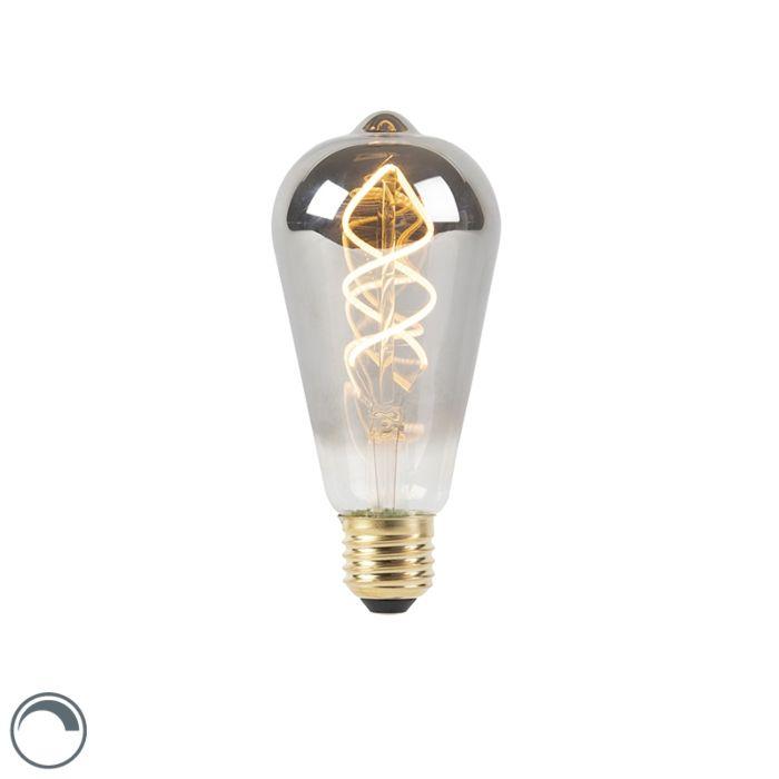 Lampe-à-filament-torsadé-à-LED-E27-dimmable-fumée-100-lm-2100K