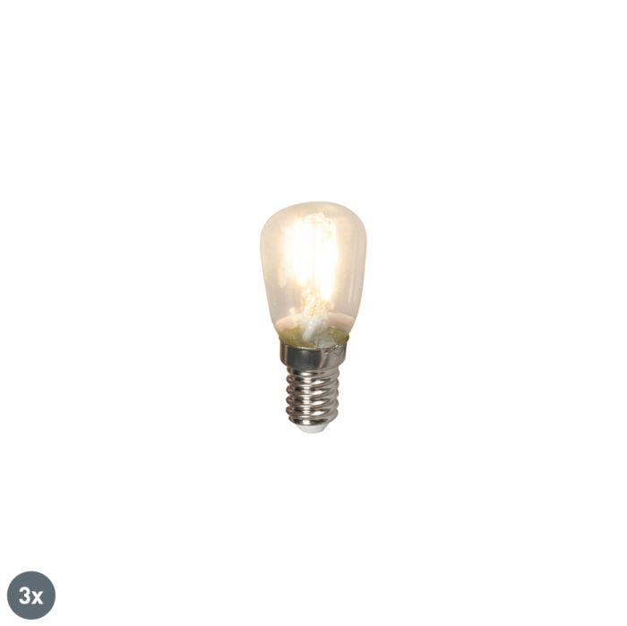 Lot-de-3-lampes-standard-à-filament-LED-E14-T26-1W-100lm-2700-K
