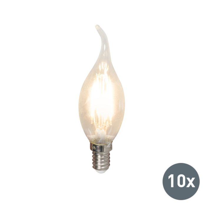 Ampoule-LED-Bougie-à-filament-E14-240V-3,5W-350lm-BXS35-dimmable-Pack-de-10