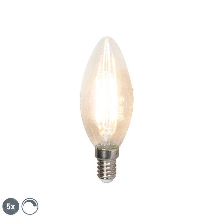 Lot-de-5-bougies-LED-à-filament-E14-dimmables-350-lm-2700K