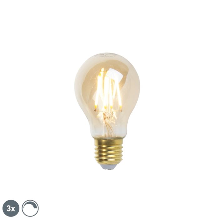 Lot-de-3-lampes-à-incandescence-LED-E27-dimmable-goldline-360lm-2200K