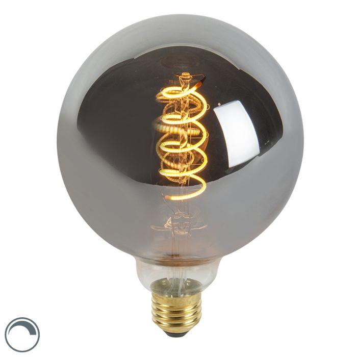 Lampe-à-filament-torsadée-LED-E27-dimmable-G125-fumée-100-lm-2100K