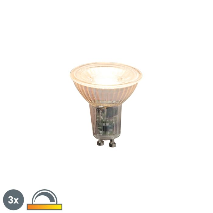 Lot-de-3-lampes-LED-dimmables-GU10-5.5W-360lm-2000K---2700K