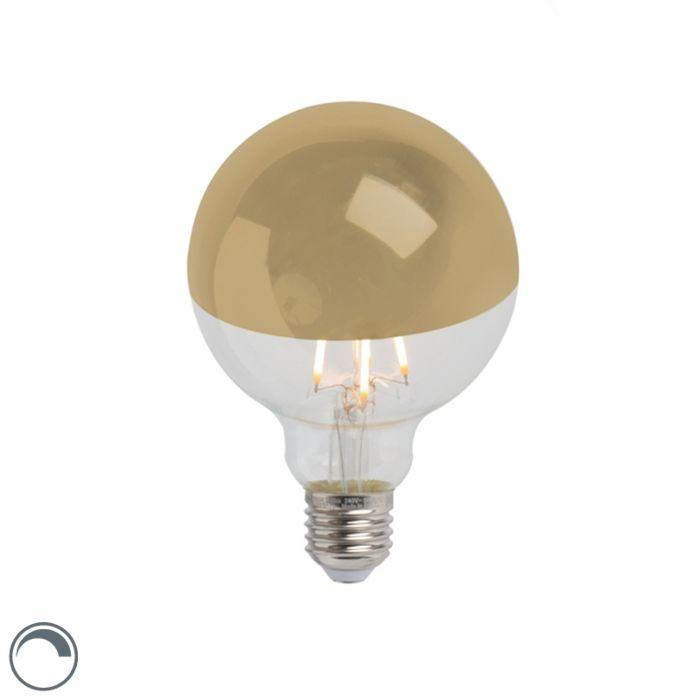 E27-dimmable-LED-tête-de-lampe-à-incandescence-miroir-G95-or-280lm-2300K