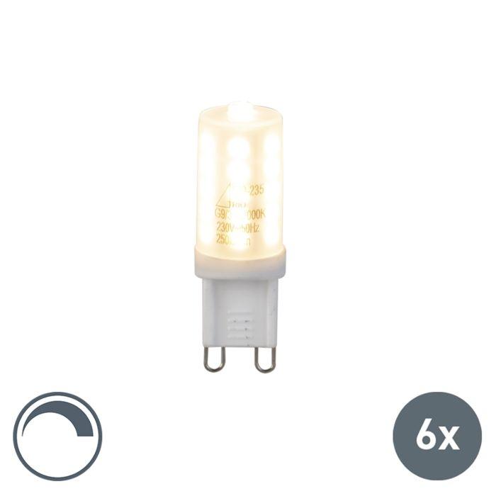 Ensemble-de-6-lampes-à-LED-G9-dimmables-3W-250Lm