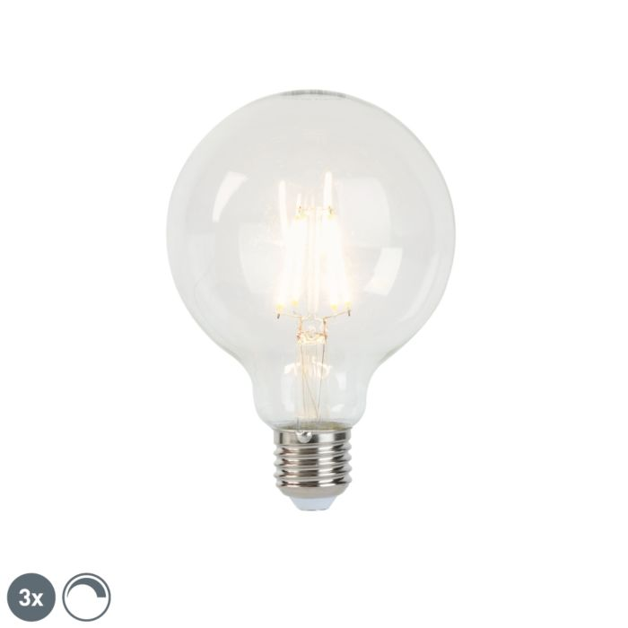 Lot-de-3-lampes-à-incandescence-LED-dimmables-E27-G95-5W-470-lm-2700K