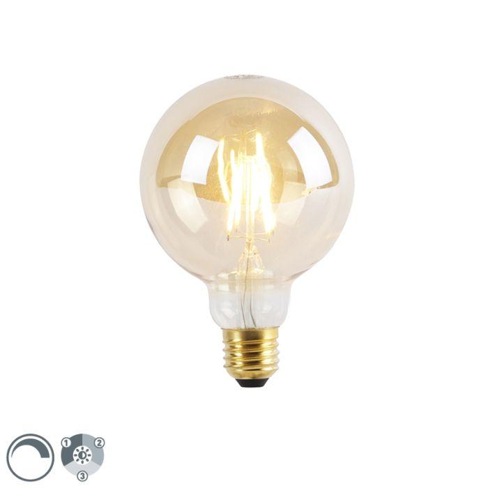 Lampe-LED-E27-dimmable-3-niveaux-G95-Goldline-5W-360lm-2200K