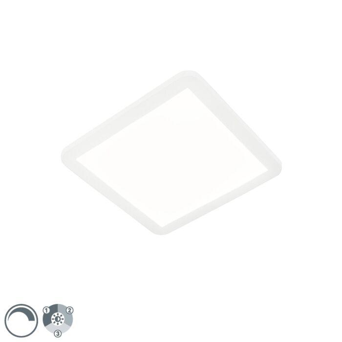 Plafonnier-blanc-30-cm-avec-LED-dimmable-en-3-étapes-IP44---Steve