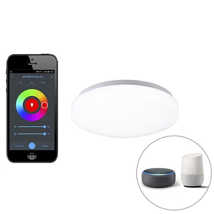 Plafonnier-intelligent-moderne-blanc-avec-LED-et-appli---Marti