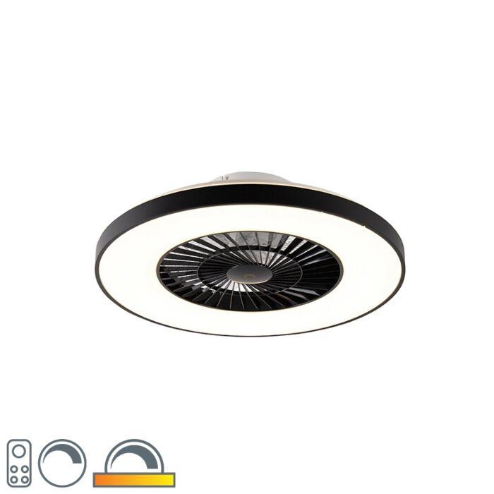 Ventilateur-de-plafond-noir-avec-LED-avec-télécommande---Climo