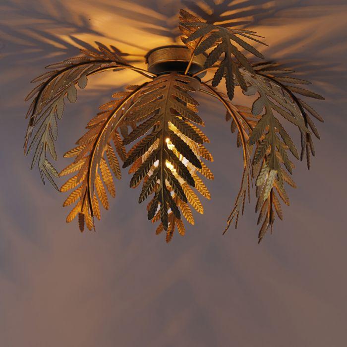 Plafonnier-vintage-or-45-cm---Botanica