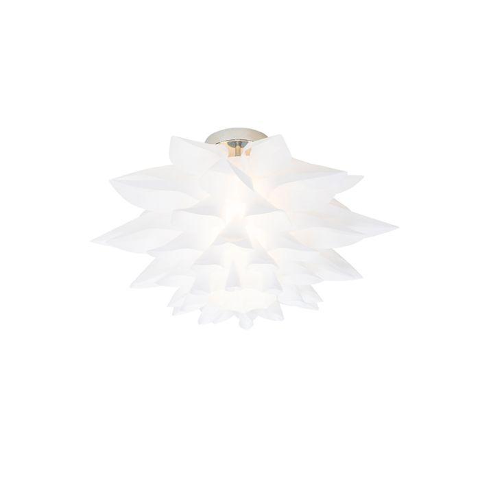 Plafonnier-design-blanc-50-cm---Rimon