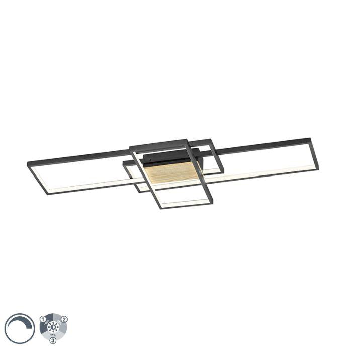 Plafonnier-noir-104-cm-avec-LED-dimmable-en-3-étapes---Amal