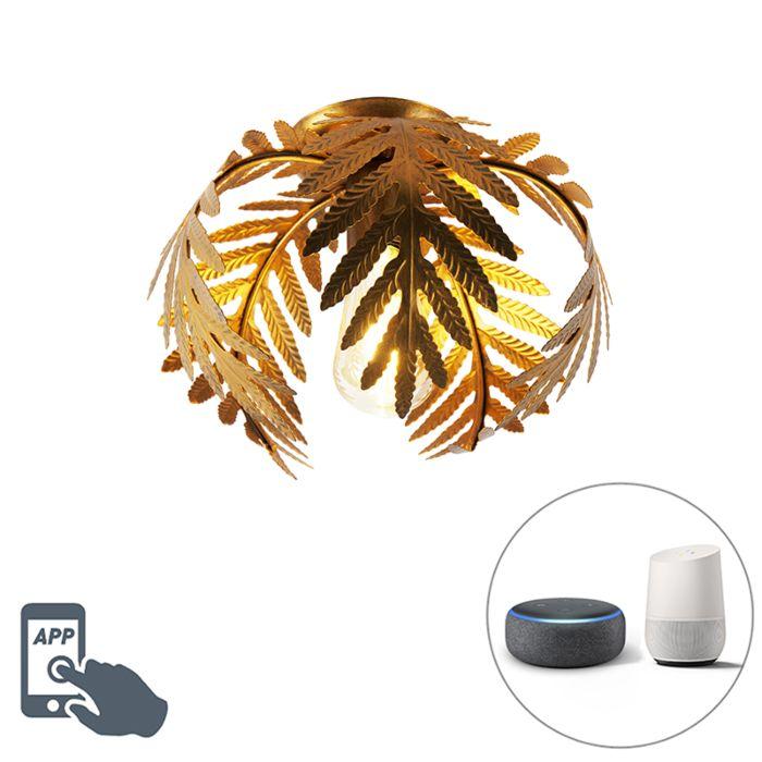 Plafonnier-vintage-intelligent-or-24-cm-avec-WiFi-ST64---Botanica