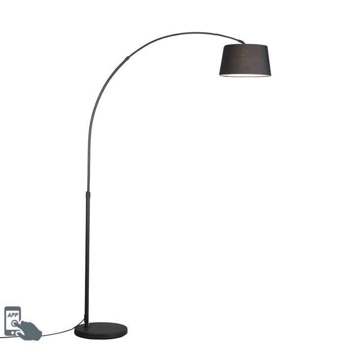 Lampe-à-arc-moderne-et-intelligente-noire-avec-Wifi-A60---Arc-Basic