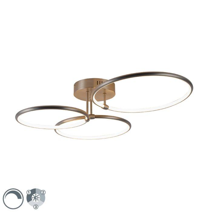 Plafonnier-design-en-acier-avec-LED-dimmable-3-niveaux-3-lumières---Joaniqa