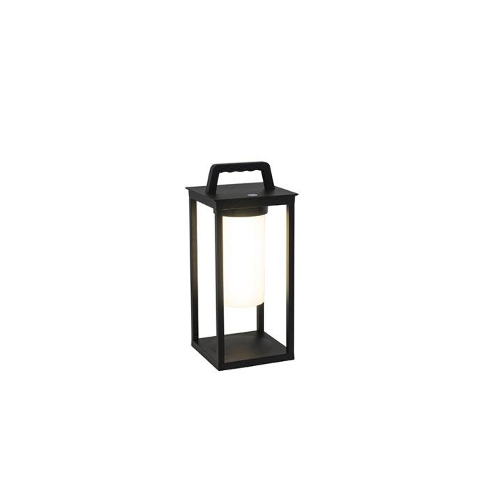 Lampe-d'extérieur-moderne-noire-avec-LED-rechargeable-IP44---Denlu