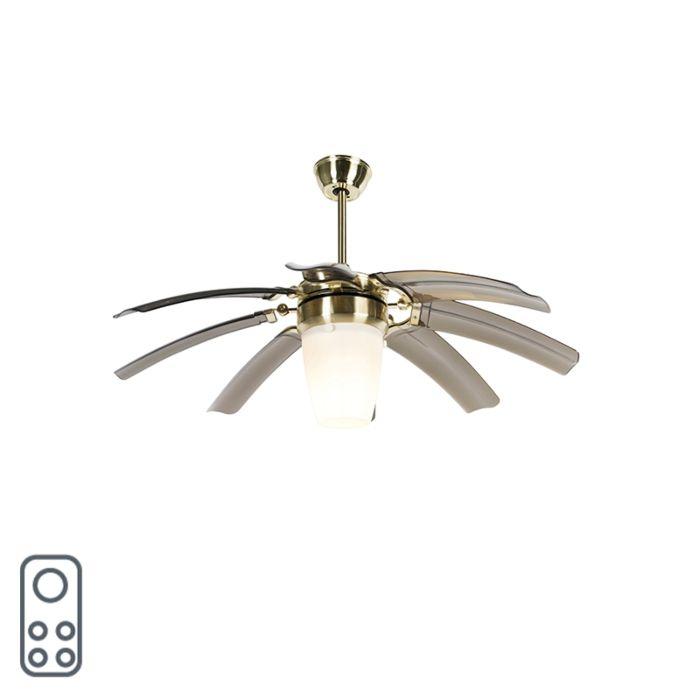 Ventilateur-de-plafond-design-en-laiton-avec-télécommande---Wings-42