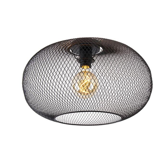 Plafonnier-moderne-noir-45-cm---Mesh-Ball