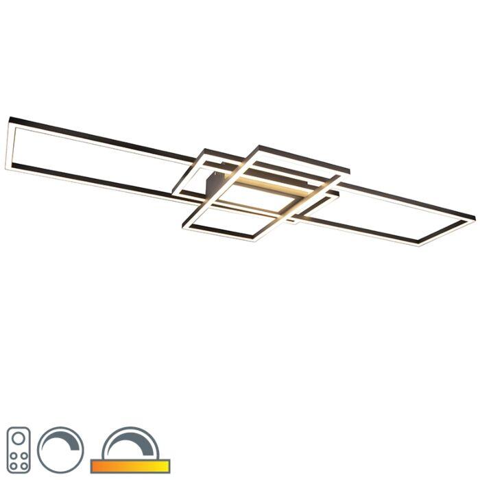 Plafonnier-anthracite-avec-LED,-télécommande---Riha