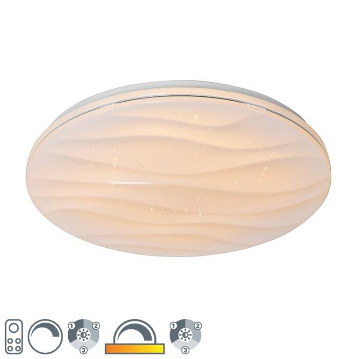 Plafonnier-blanc-38-cm-avec-LED-avec-télécommande---Damla