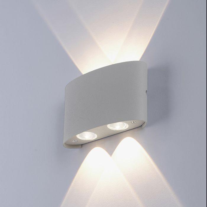 Applique-moderne-grise-avec-LED-IP54---Wendy