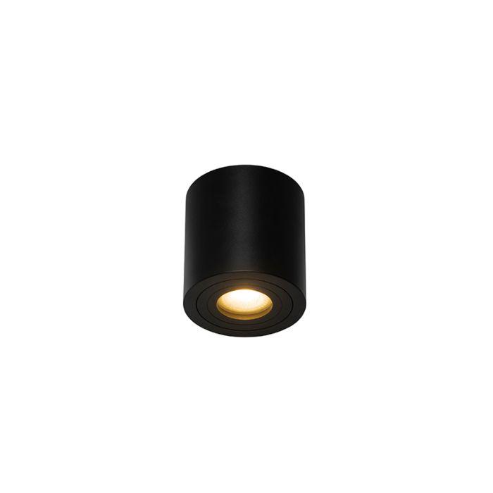 Spot-de-salle-de-bain-moderne-rond-noir-IP44---Capa