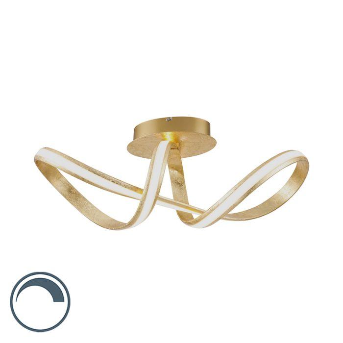 Plafonnier-design-or-avec-LED---Belinda