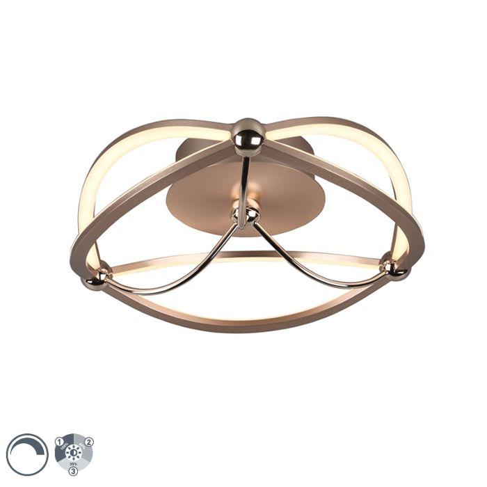 Plafonnier-laiton-41-cm-avec-LED-dimmable-en-3-étapes---Jacky