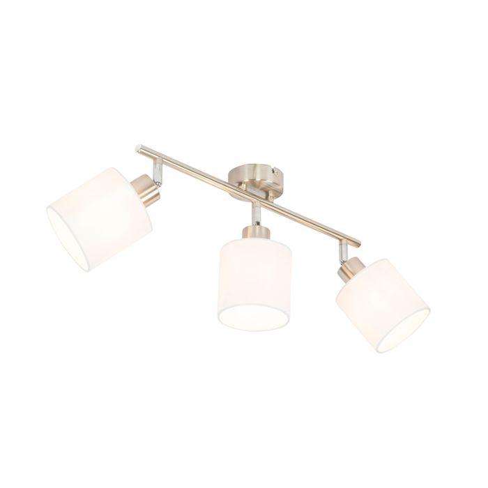 Spot-de-plafond-acier-avec-abat-jour-blanc-réglable-à-3-lumières---Hetta