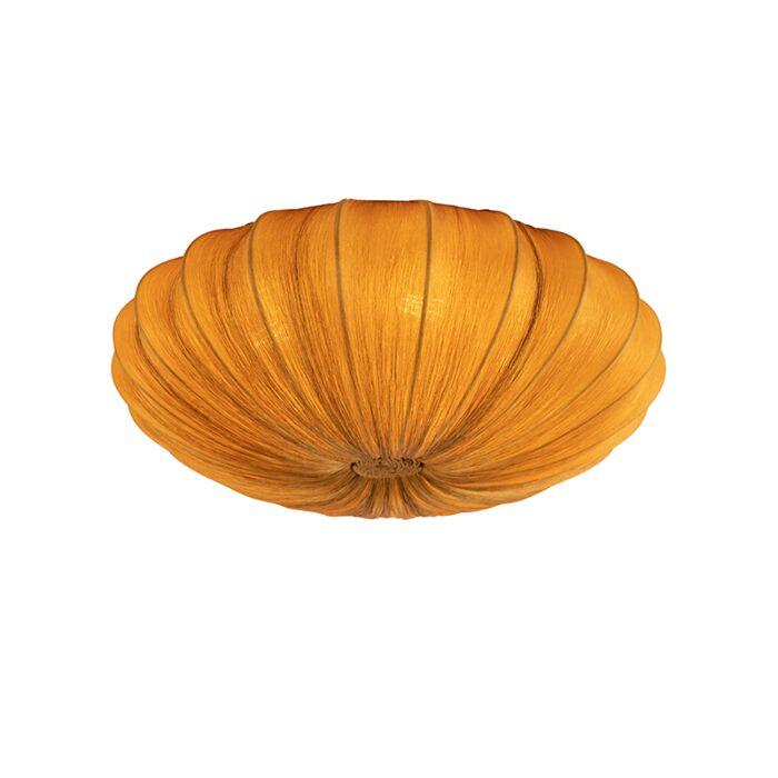 Plafonnier-design-soie-or-60-cm---Plu