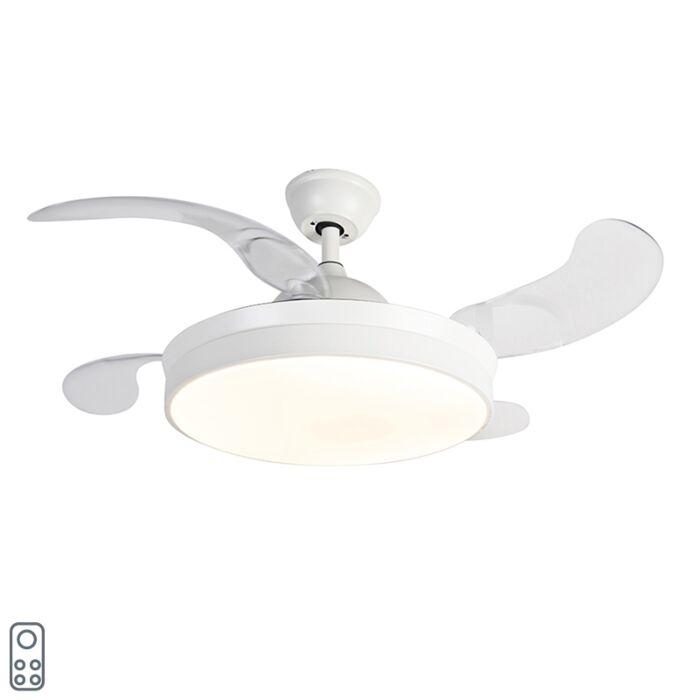 Ventilateur-de-plafond-blanc-avec-télécommande-avec-LED---Xiro