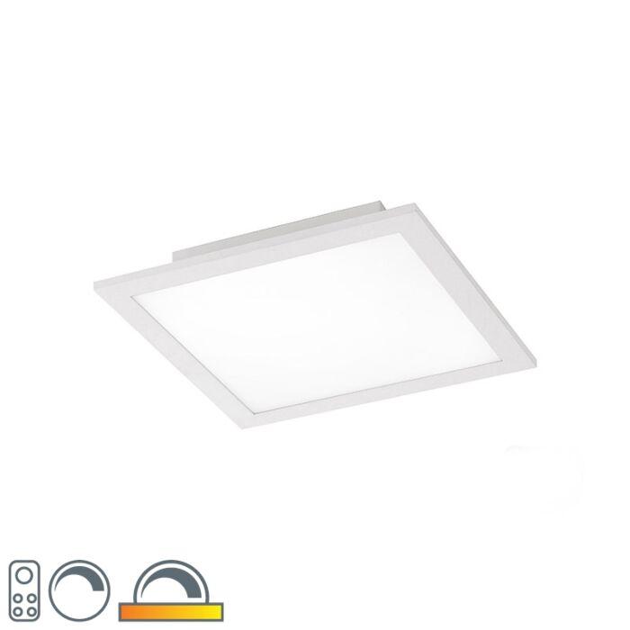 Plafonnier-blanc-30-cm-avec-LED-et-télécommande---Orch
