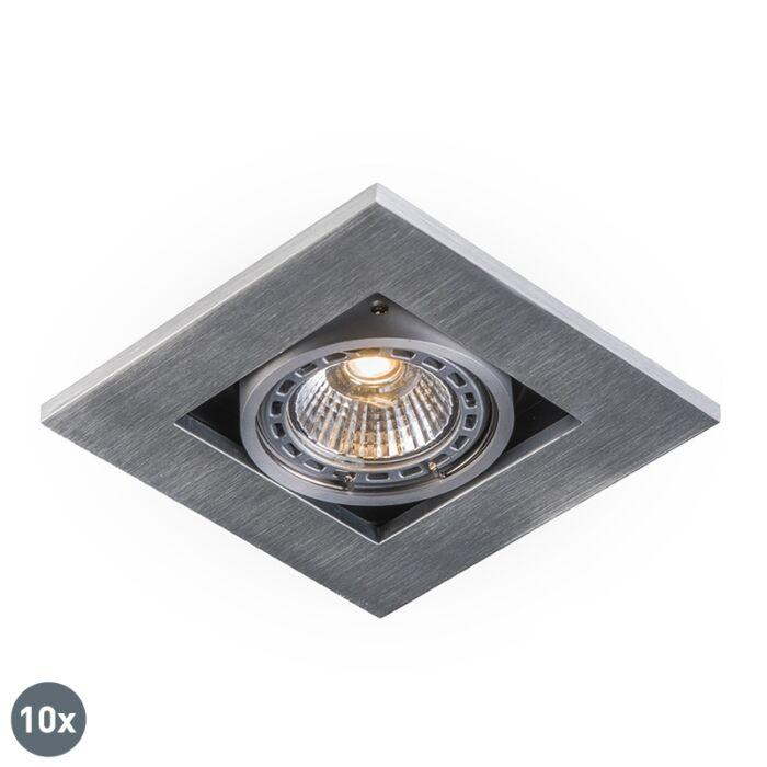 Lot-de-10-spots-encastrés-modernes-aluminium-épaisseur-3-mm---Qure