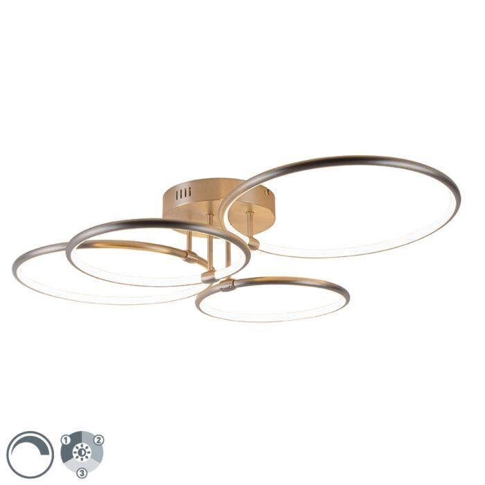 Plafonnier-en-acier-avec-LED-3-niveaux-dimmable-4-lumières---Joaniqa