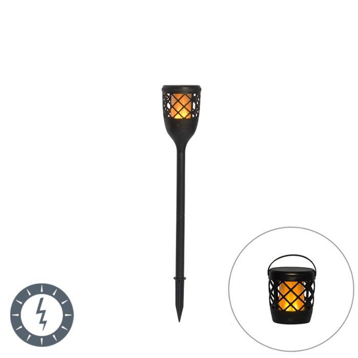 Spike-spot-noir-avec-effet-flamme-avec-LED-2W---Toci