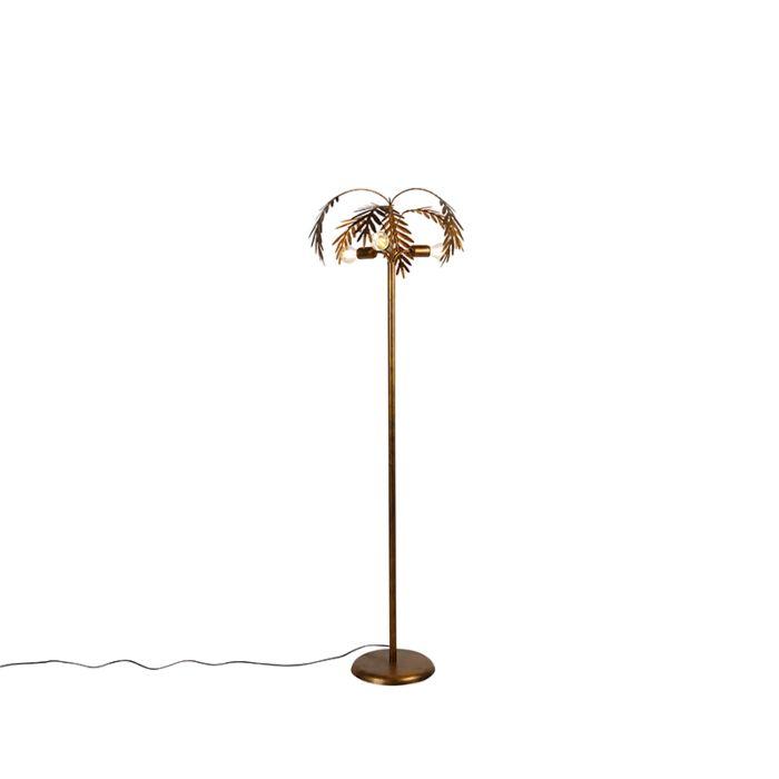 Lampadaire-vintage-doré-à-3-lumières---Botanica