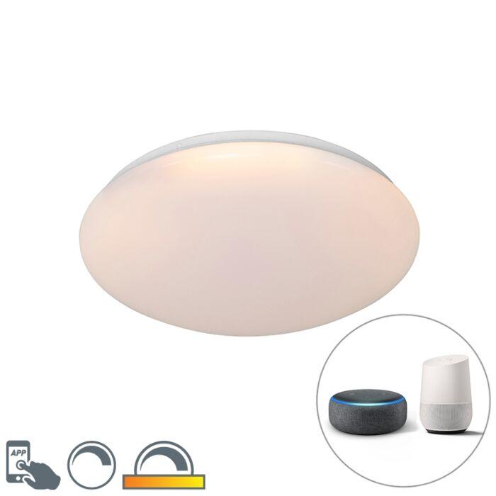 Plafonnier-moderne-intelligent-blanc-38-cm-avec-LED-et-RGB---Iene