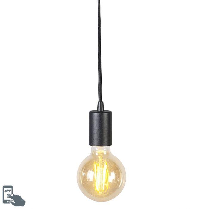 Lampe-à-suspension-intelligente-noire-avec-source-lumineuse-WiFi-G95---Facil