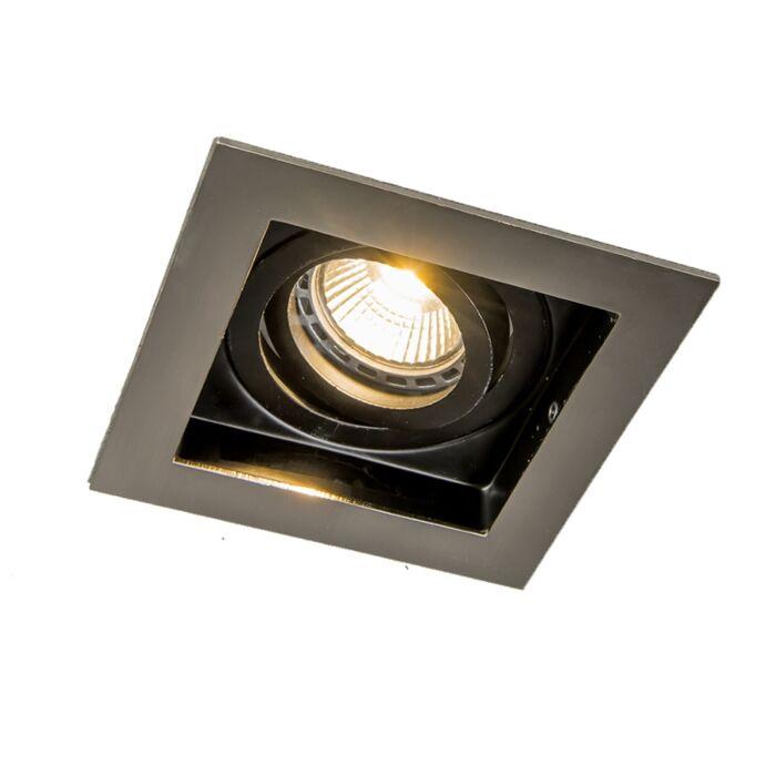 Spot-encastrable-intelligent-en-acier-avec-source-lumineuse-Wifi-GU10---Carree
