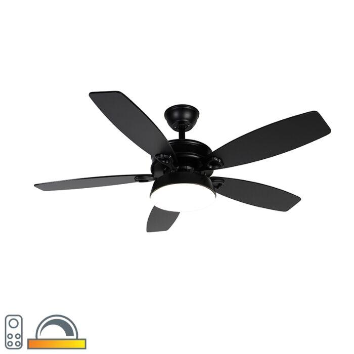 Ventilateur-de-plafond-noir-avec-télécommande-avec-LED---Malaki