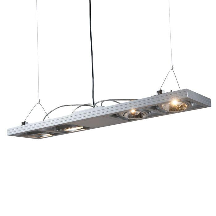Suspension-Kardan-4-spots-inclinables-en-aluminium
